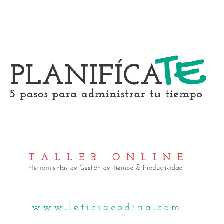 Planifícate Talleres Online Leticia Codina